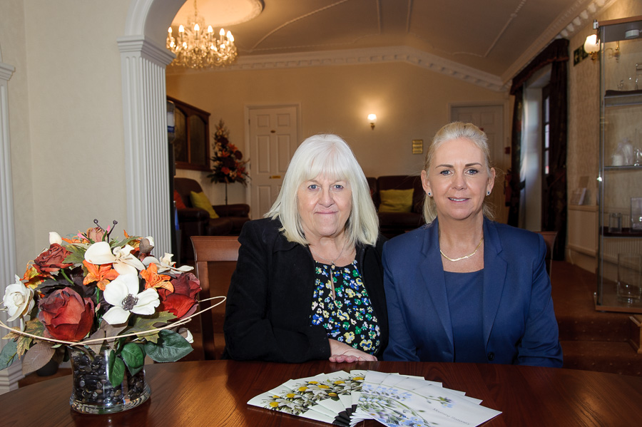Woodville Co-operative Funeralcare staff, Sandra Wyatt and Lorraine Walker who are helping local families to arrange funerals together.